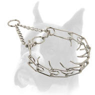 """Toothy tamer"" Chrome Plated Dog Pinch Collar - 1/6 inch (3.99 mm)"