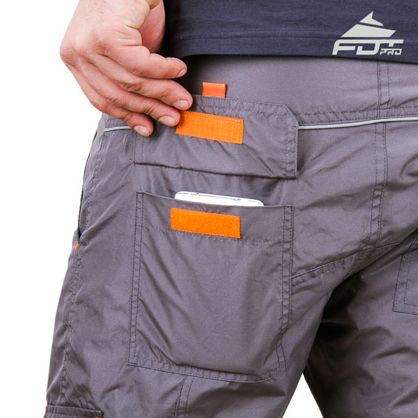Convenient Design Pro Pants with Useful Side Pockets for Dog Training