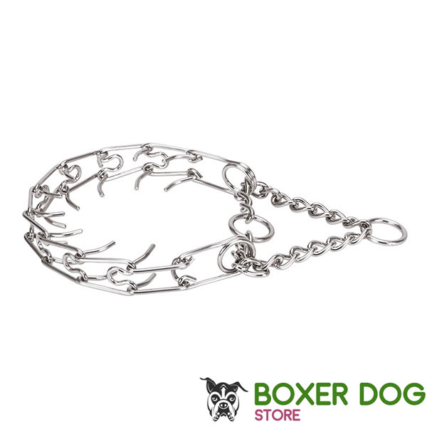 Medium canines pinch collar with stainless steel removable links