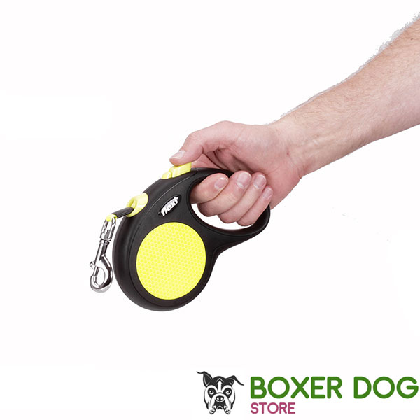 Retractable Leash with Durable Convenient Chrome Plated Snap Hook