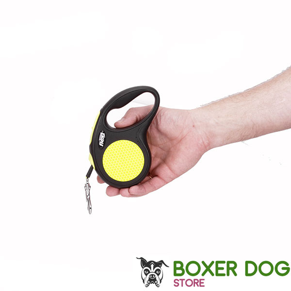 Convenient Handle on Dog Retractable Leash for Walking