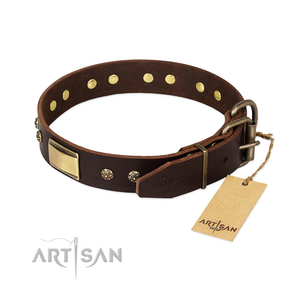 Perfect fit genuine leather collar for your pet