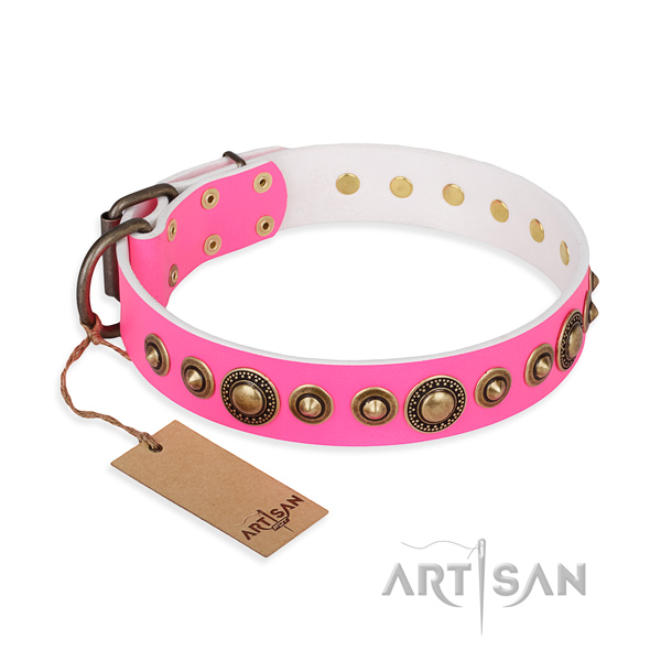 Best quality leather collar handcrafted for your dog
