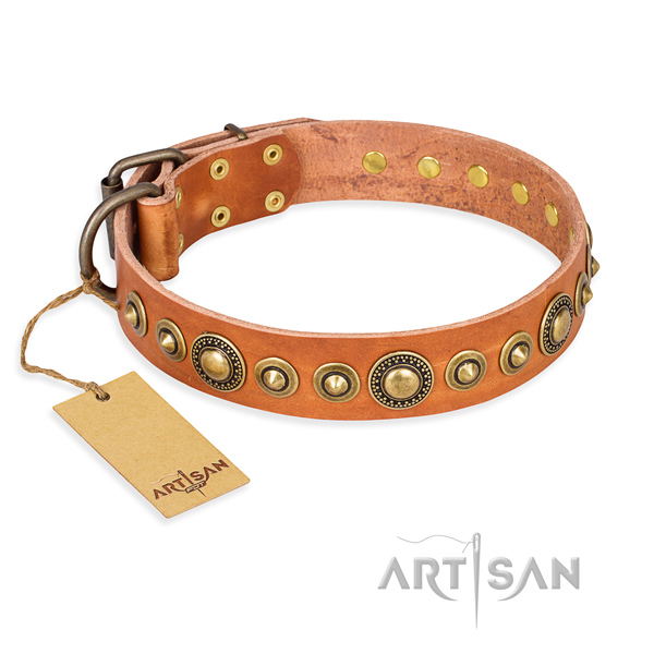 Best quality full grain genuine leather collar created for your doggie