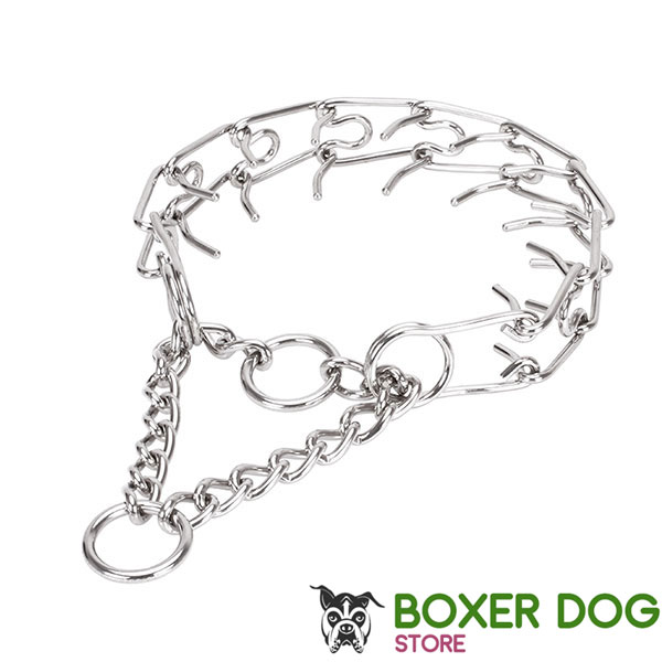 Stainless steel dog pinch collar for large pets