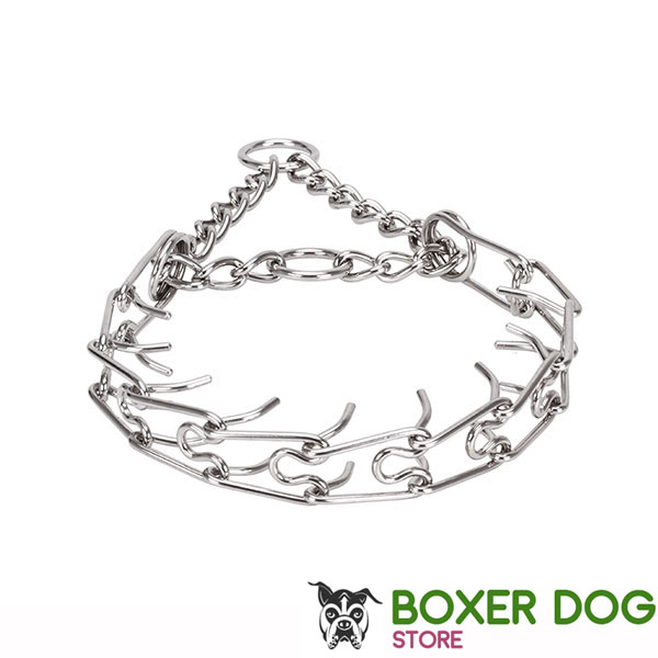 Pinch collar of stainless steel for poorly behaved dogs