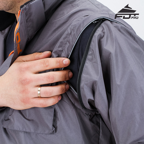 High Quality Zipper on Sleeve for FDT Professional Design Dog Tracking Jacket