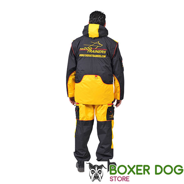 Membrane Fabric Dog Training Bite Suit with a Number of Pockets