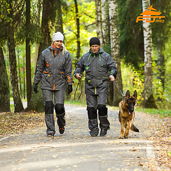 Unisex High Quality Dog Training Suit for Men and Women with Reflective Strap