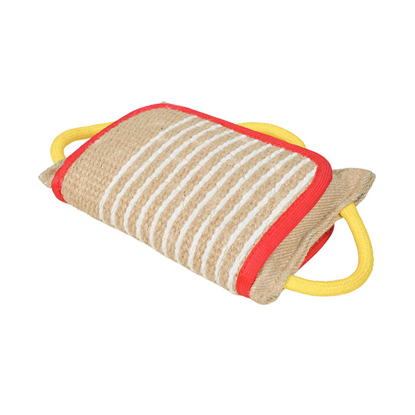 Strong Jute Bite Pillow with 3 Handles for Boxer Training