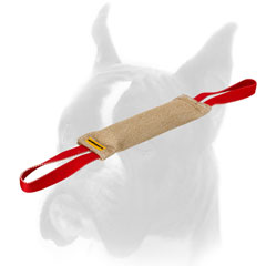 Durable jute training bite tug with handle