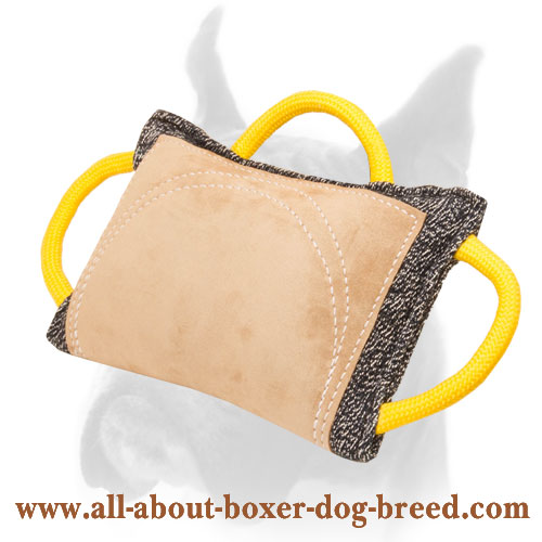 Improved Design French Linen and Leather Boxer Bite Pad