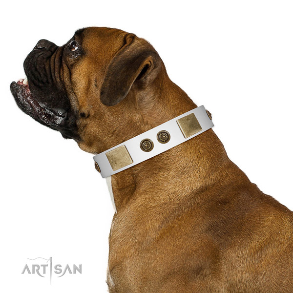 Convenient dog collar handmade for your attractive pet