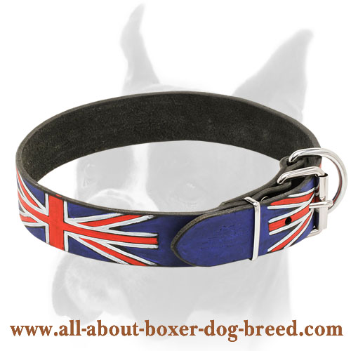 Fashion Leather Boxer Collar for Walking