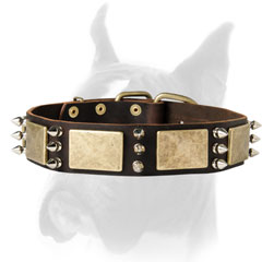 Handcrafted Dod Collar of thick Genuine Leather