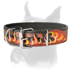 Astonishing Leather Collar with painting