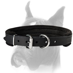 Collar of supple and soft genuine leather
