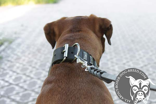 Easy Adjustable Leather Boxer Collar