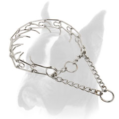 Chrome Plated Steel Boxer Pinch Collar