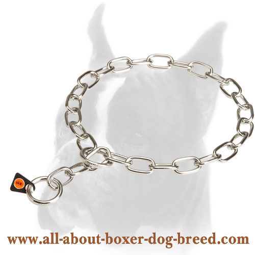 Stainless Steel Fur Saver Collar for Obedience Correction - 1/9 inch (3 mm)