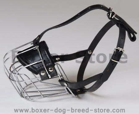 wire basket dog muzzle for boxers