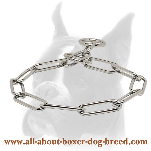 Chrome Plated Choke Collar - Fur Saver 1/6 inch (4mm)