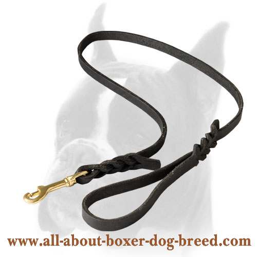 Comfortable Boxer leash soft to the hands