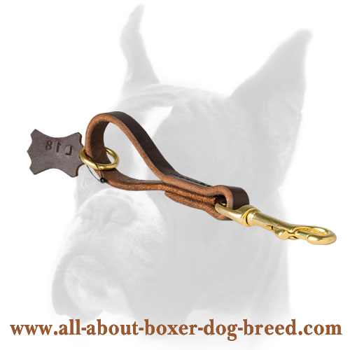 Extra strong leather Boxer leash