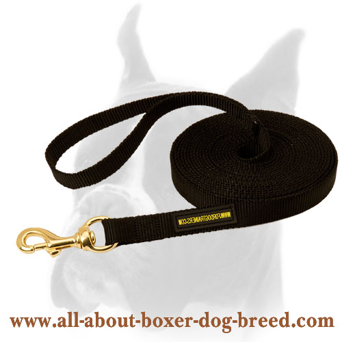 Wet resistant Boxer nylon leash